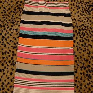 Tracy Reese Stretch Striped Skirt XS New